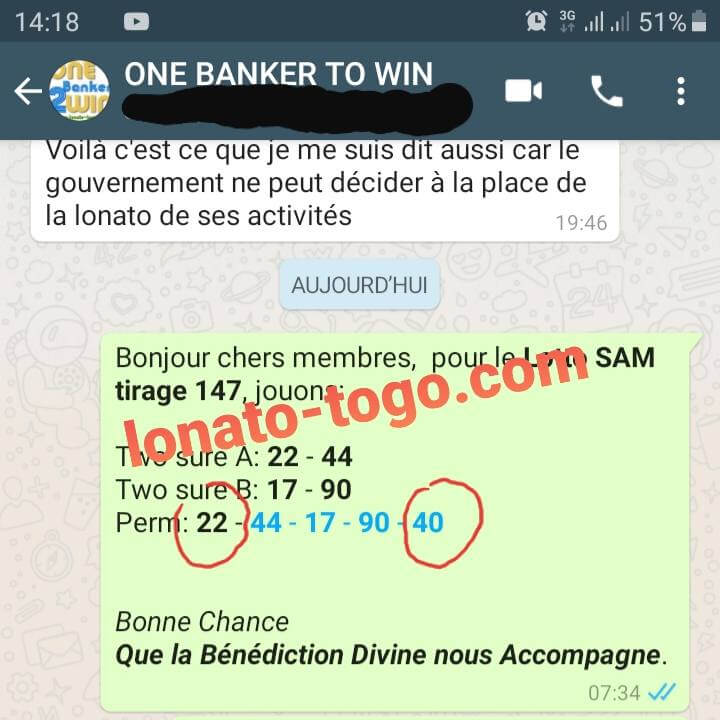 "Pronostics du groupe ""One Banker to Win"" pour le loto Sam tirage 147"