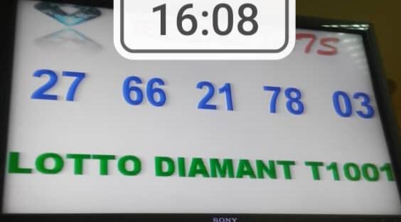 Numéros gagnants ou résultats du lotto Diamant tirage 1001