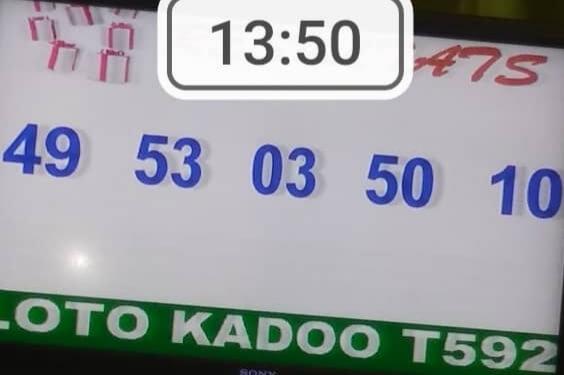 Résultats ou numéros gagnants du loto Kadoo tirage 592