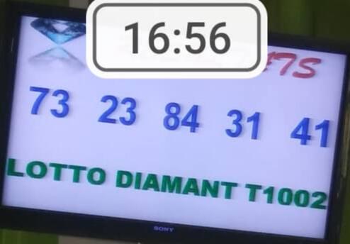 Résultats ou numéros gagnants du lotto Diamant tirage 1002