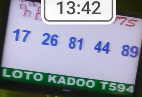 Résultats du loto Kadoo tirage 594
