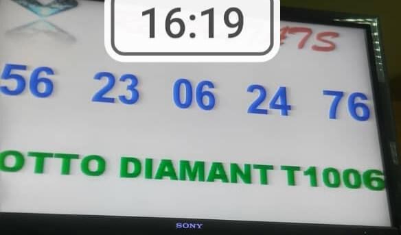 Numéros gagnants du lotto Diamant tirage 1006