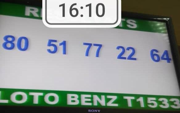 Résultats loto Benz tirage 1533 80 - 51 - 77 - 22 - 64