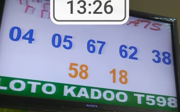Numéros gagnants du lotto Kadoo tirage 598