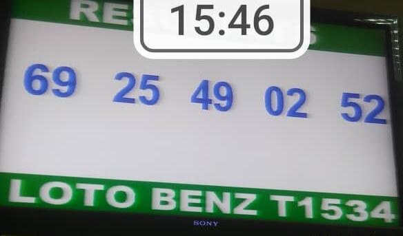 Numéros gagnants ou Résultats du lotto loto Benz Tirage 1534 ==> 69 - 25 - 49 - 02 - 52