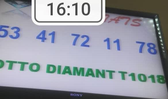 Résultats du lotto Diamant tirage 1018