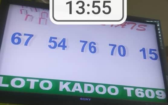 Les numéros gagnants ou résultats du loto Kadoo tirage 609