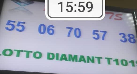 Numéros gagnants du lotto Diamant tirage 1019