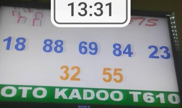 Les Résultats ou numéros gagnants du loto Kadoo tirage 610
