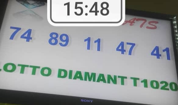 Numéros gagnants du lotto Diamant tirage 1020