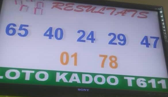 Résultats du loto Kadoo tirage 611