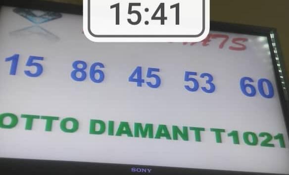 Résultats du loto Diamant tirage 1021