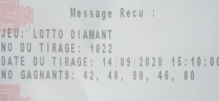Résultats du lotto Diamant tirage 1022