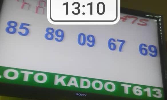 Numéros gagnants du lotto Kadoo tirage 613