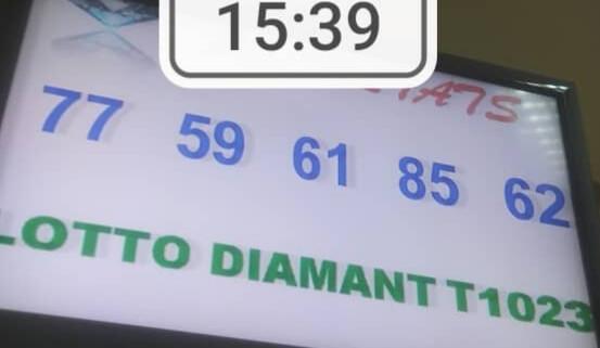 Numéros gagnants du lotto Diamant tirage 1023
