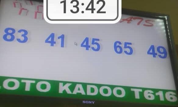 Numéros gagnants du lotto Kadoo tirage 616