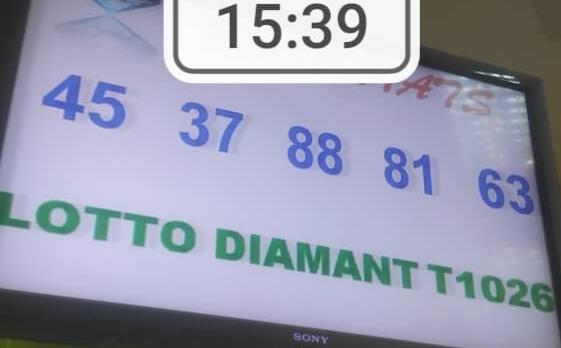 Numéros gagnants du lotto Diamant tirage 1026