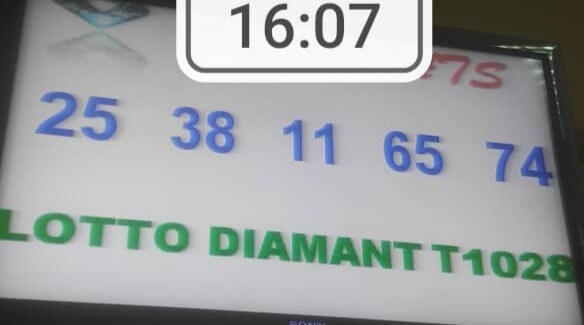 Numéros gagnants du lotto Diamant tirage 1028
