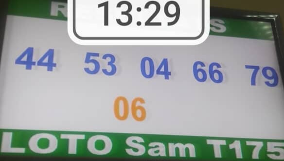 Résultats du loto SAM tirage 175