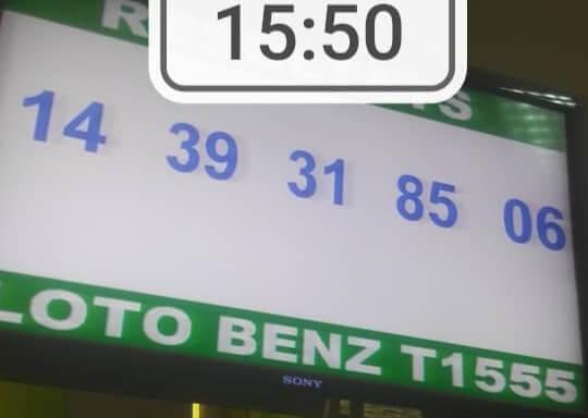 Résultats ou numéros gagnants du loto Benz tirage 1555