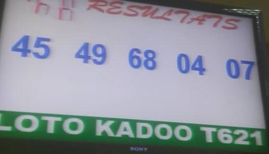 Numéros gagnants du loto Kadoo tirage 621