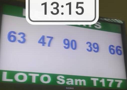 Résultats du loto SAM tirage 177