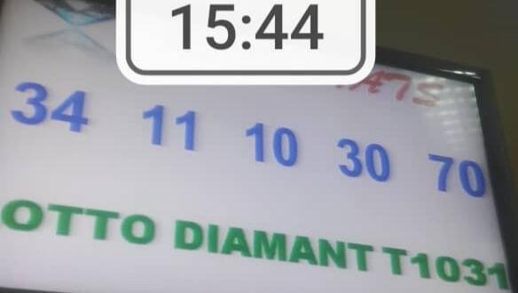 Numéros gagnants du lotto Diamant tirage 1031