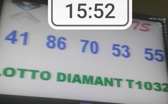 Numéros gagnants du lotto Diamant tirage 1032
