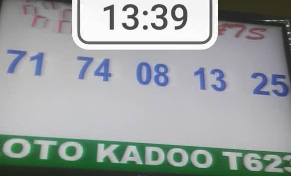 Numéros gagnants du loto Kadoo tirage 623