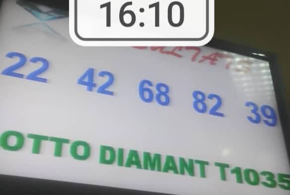 Numéros gagnants du loto Diamant tirage 1035