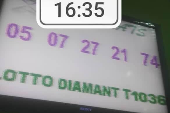 Numéros gagnants du lotto Diamant tirage 1036