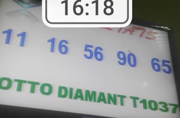 Numéros gagnants du lotto Diamant tirage 1037
