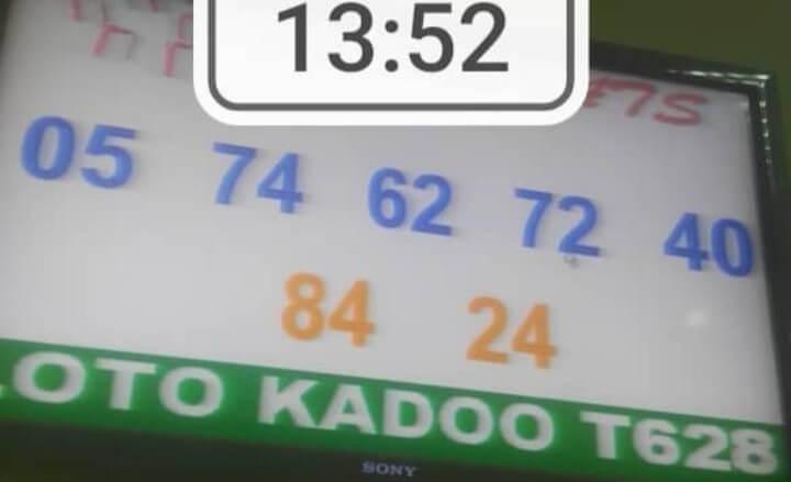 Numéros gagnants du loto Kadoo tirage 628