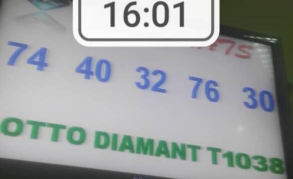 Numéros gagnants du lotto Diamant tirage 1038