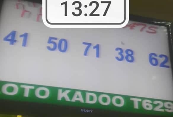 Numéros gagnants du loto Kadoo tirage 629