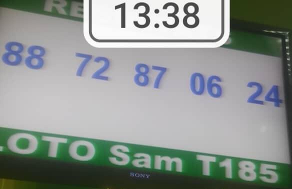 Numéros gagnants du loto Sam tirage 185