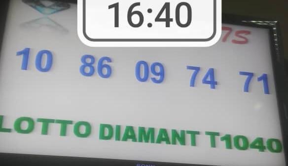 Numéros gagnants du lotto Diamant tirage 1040