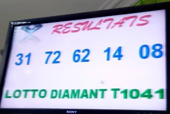 Numéros gagnants du lotto Diamant tirage 1041