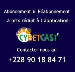 Abonnement et réabonnement à prix réduit à l'application Cybetcast