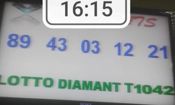 Numéros gagnants du loto Diamant tirage 1042