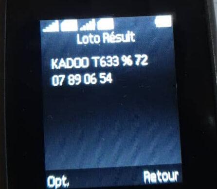 Numéros gagnants du loto Kadoo tirage 633