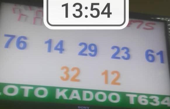 Numéros gagnants du loto Kadoo tirage 634