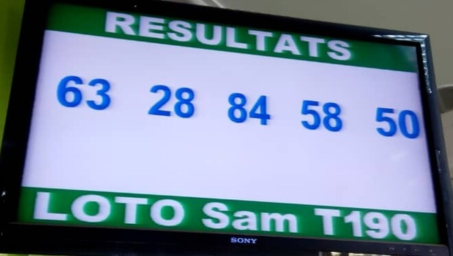 Numéros gagnants loto SAM tirage 190