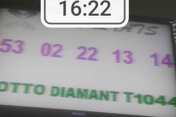 Résultats ou numéros gagnants du lotto Diamant tirage 1044