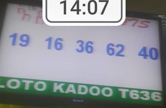 Numéros gagnants du loto Kadoo tirage 636