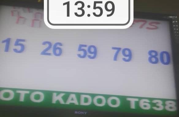 Numéros gagnants loto Kadoo tirage 638