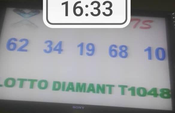 Numéros gagnants du lotto Diamant tirage 1048