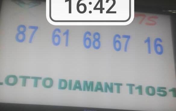 Numéros gagnants du lotto Diamant tirage 1051
