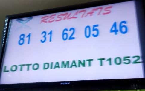 Numéros gagnants du lotto Diamant tirage 1052