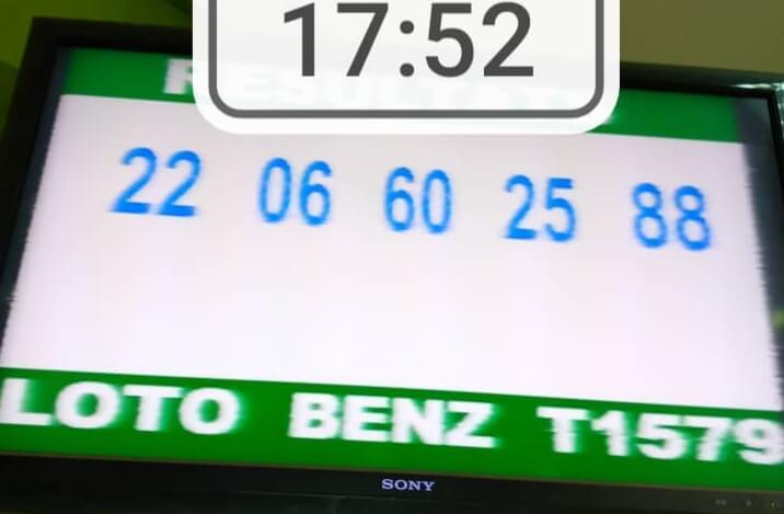 Résultats ou Numéros gagnants du loto Benz tirage 1579